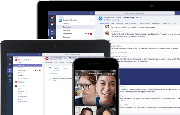 Screenshot Microsoft Teams
